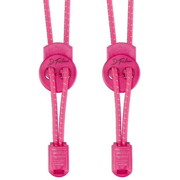 DF-Elastic-pink - Di Ficchiano Premium Schnellschnürsystem / elastische Schnürsenkel (1 Paar) für Sneaker, Sport- und Freizeitschuhe