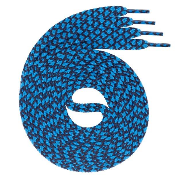 Swissly 1Paar flache Schnürsenkel für Sneaker und Sportschuhe - sehr reißfest - ca. 7,0 mm breit aus 100% Polyester, Farbe: navy.blue Länge: 100cm