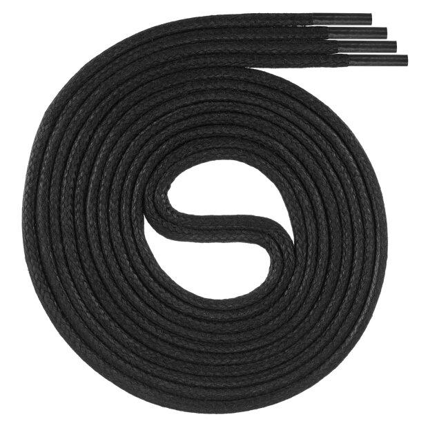Swissly 1 Paar Premuim-Schnürsenkel gewachst, Rundsenkel für Business, Anzug- und Lederschuhe, ø 2-4 mm, Längen 45cm - 200 cm, reißfest